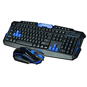 generic multimedia 2 4ghz wireless pro gaming keyboard and mouse combo for desktop. Black Bedroom Furniture Sets. Home Design Ideas