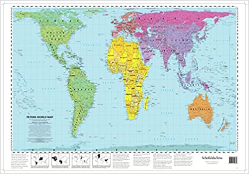 Peters world map 53 x 77 cm amazon schofield sims peters world map 53 x 77 cm amazon schofield sims 8601404371486 books gumiabroncs Image collections