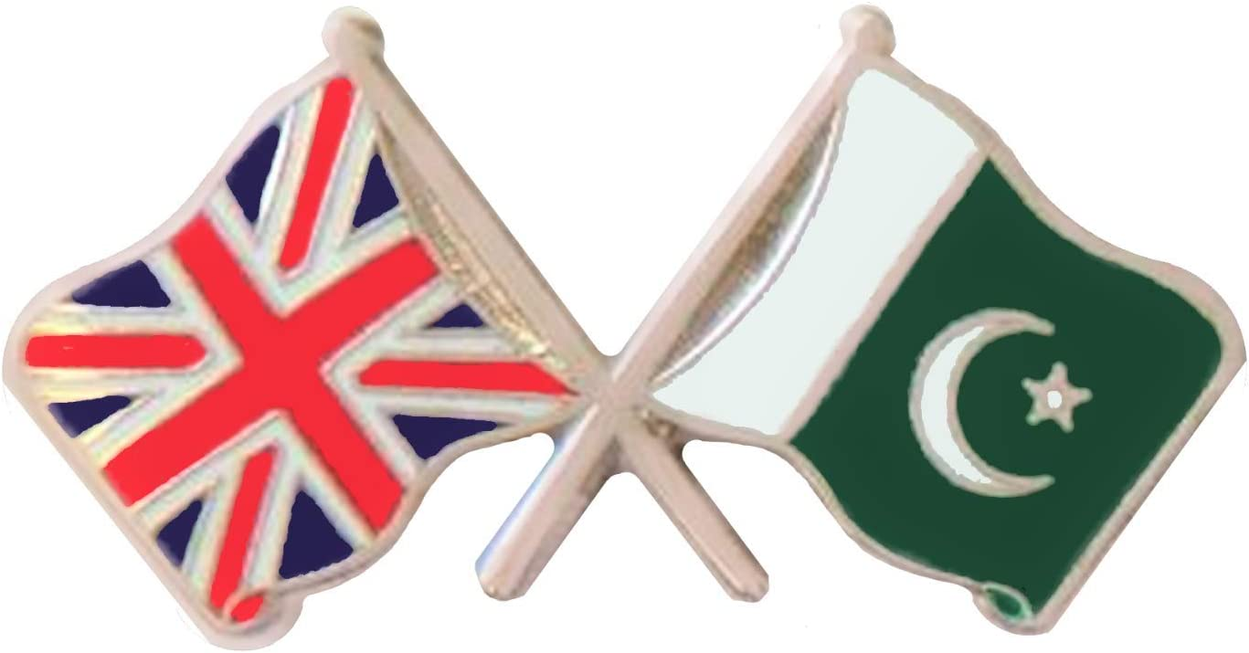PAKISTAN BADGE PIN LIGHT FLAG ENAMEL  NATIONAL