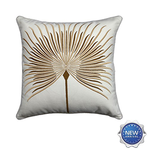 Lichao Natural and Fresh Flower Dandelion 3D Home Decorative EMBROIDERY Cotton Linen Pillow Case Cushion Cover 18