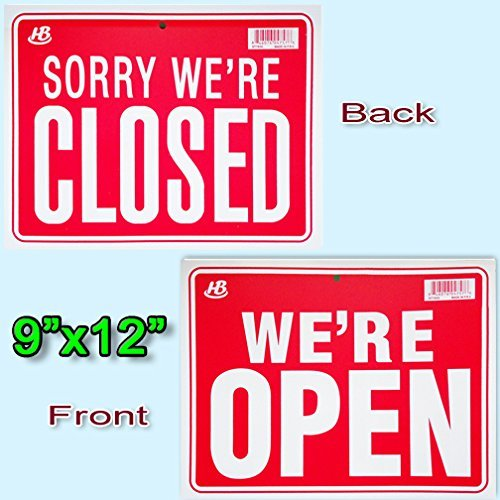 1 BUSINESS HOURS /& 1 WERE OPEN 2 Signs SORRY WERE CLOSED Flexible Heavy Thick Plastic 9x12 HB SG/_B00D3OWM1U/_US