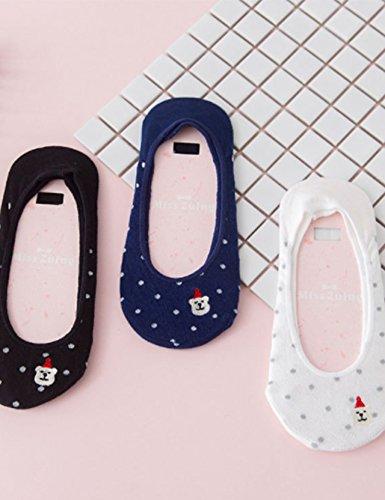 大人の上質  Generic 3組のドレスms.シリコンノンスリップソックスCute Japaneseポルカドット刺繍Invisible Socks Socks B01N20EIA3 B01N20EIA3, 辰口町:936e4a66 --- domaska.lt