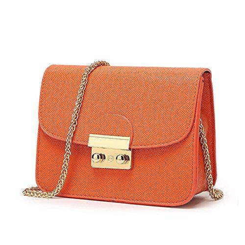 Tracolla Pelle Donna Chikencall Sintetico Arancione Borsa In 5R88x0