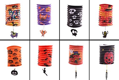 PZLE Halloween Paper Lanterns Holiday Decorations 8 -