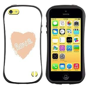 Suave TPU GEL Carcasa Funda Silicona Blando Estuche Caso de protección (para) Apple Iphone 5C / CECELL Phone case / / Love Heart White Text Minimalist Valentines /
