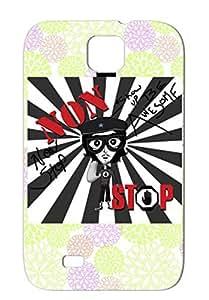 Miscellaneous Music White TPU Nonstoprockstarexsm Case Cover For Sumsang Galaxy S4