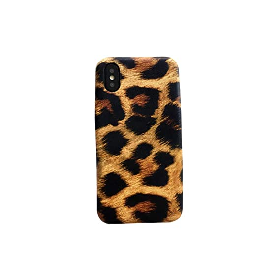 reputable site 994ba da1e5 Amazon.com: Fusicase for iPhone Xs Max Case Leopard Print Fashion ...