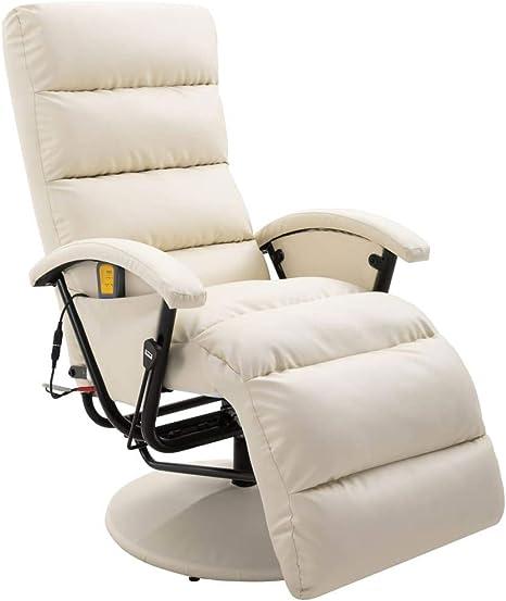 Vidaxl Tv Massagesessel Mit Warmefunktion Massage Elektrisch Fernsehsessel Relaxsessel Sessel Relaxliege Liegesessel Ruhesessel Cremeweiss Kunstleder Amazon De Kuche Haushalt