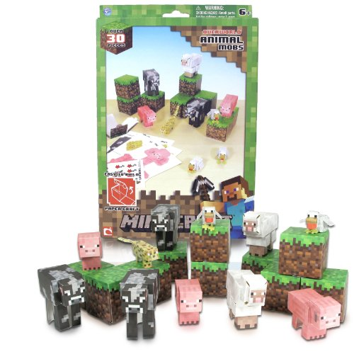 Minecraft Papercraft Animal Mobs Set (Over 30 Pieces)]()