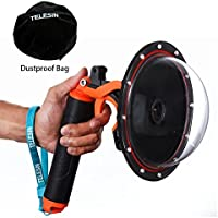 TELESIN 6Dome Port Camera Lens Transparent Cover for GoPro Hero 4 Hero 3+ Hero 3, with Waterproof Housing Case Pistol Trigger Floating Hand Grip, Underwater Diving Photography GoPro Accessories