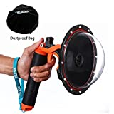 TELESIN 6''Dome Port Camera Lens Transparent Cover for GoPro Hero 4 Hero 3+ Hero 3, with Waterproof Housing Case Pistol Trigger Floating Hand Grip, Underwater Diving Photography GoPro Accessories