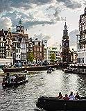 Notebook: Amsterdam Holland Netherlands Dutch Travel Blogger Rotterdam Nederland Windmill