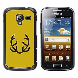 GOODTHINGS Funda Imagen Diseño Carcasa Tapa Trasera Negro Cover Skin Case para Samsung Galaxy Ace 2 I8160 Ace II X S7560M - bigote amarillo mostaza abstracta