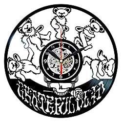 Grateful Dead Vinyl Clock - Record Albums Wall Decor - Music Gifts for Men