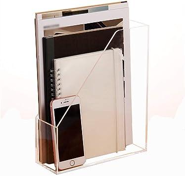 Caja de almacenamiento de Escritorio Estante de Almacenamiento Transparente multifunción Oficina A4 acrílico Archivo Titular: Amazon.es: Electrónica
