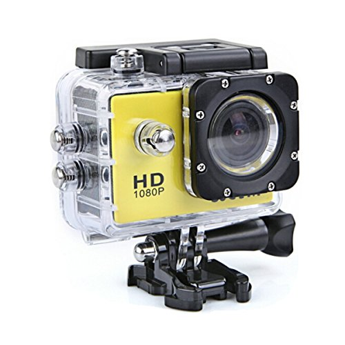 FeLiCia W8 Wifi Sport Action Kamera DV 1080P Fhd Sunplus Spca6330M - Gelb