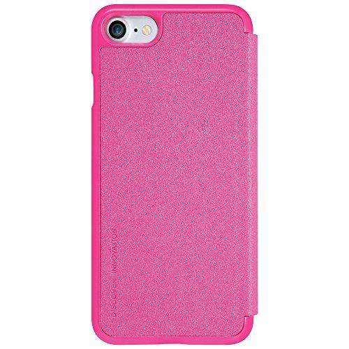 Meimeiwu Hohe Qualität Flip Up Leder Tasche Hülle - Handytasche Schale für iPhone 7 - Rot