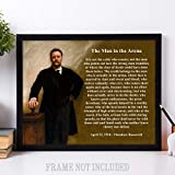 The Man in the Arena - Theodore Roosevelt - 11x14 Unframed Art Print - Great Gift for History Buffs