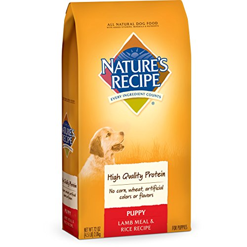 Nature's Recipe Puppy Lamb Meal & Rice Recipe Dry Dog Food, 4.5-Pound, Case of 5