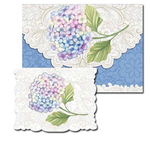 Pictura Sienna's Garden Embossed Foil Portofolio Boxed Note Cards, Hydrangea, 10 ct