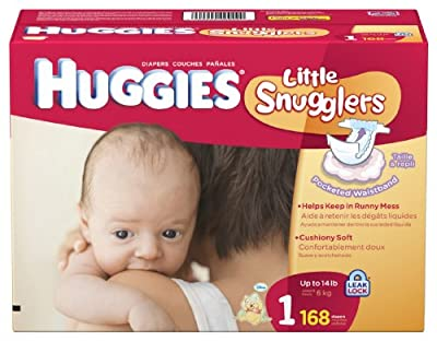 Huggies Little Snugglers Diapers, Size 1, 168 Count from Huggies