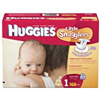 Huggies\x20Little\x20Snugglers\x20Diapers,\x20Size\x201,\x20168\x20Count
