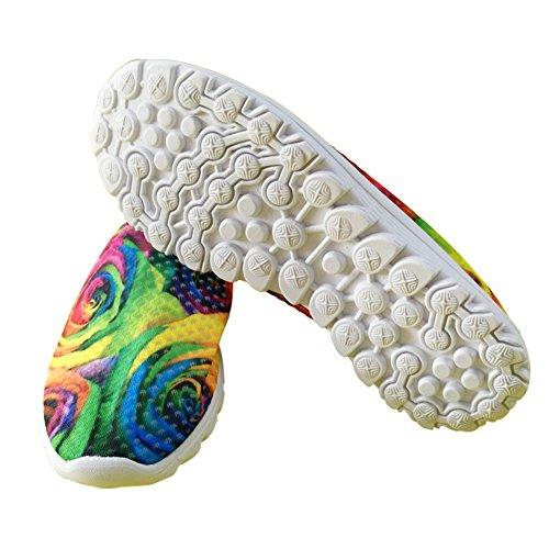 Womens Mesh IDEA Air Floral HUGS Shoes Lightweight Outdoor Running B5dxwYq
