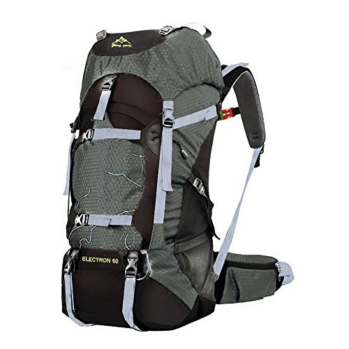 Men and women outdoor mountaineering bags 60L backpack sports bag (dark green, 60L)