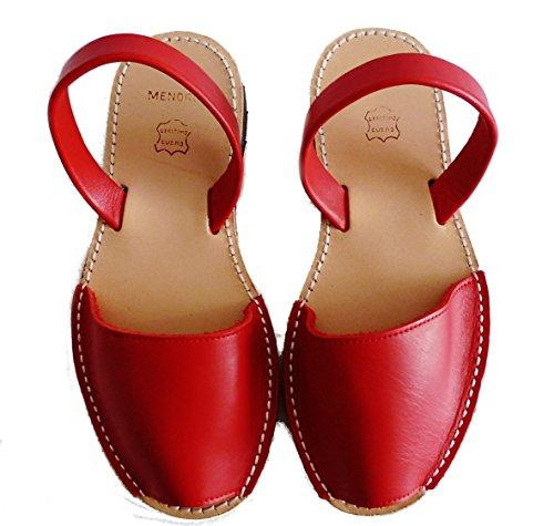 colori avarcas Sandali menorquinas vari autentici Minorca Rojo di Box wAPPqFIv