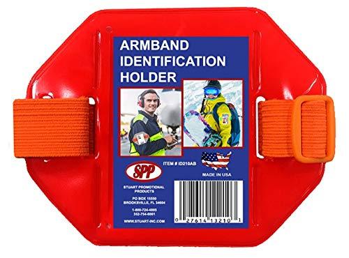 - Fluorescent Orange Back, Armband, Badge Holder, Orange Band, Orange Buckle Fits 2 3/4