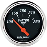 Auto Meter 1436 Designer Black Water Temperature Gauge