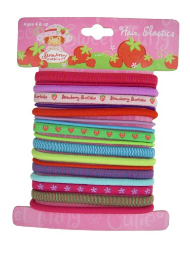 Strawberry Shortcake 17pc Hair Elastic Bands Ponytails - Strawberry Shortcake Hair Accessories (Strawberry Ponies Pony Shortcakes)