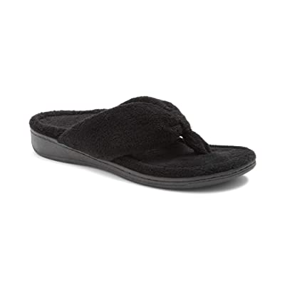 Vionic Women's Indulge Gracie Slipper - Ladies Toe-Post Thong Slippers with Concealed Orthotic Arch Support | Slippers