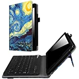 Fintie Keyboard Case for Amazon Fire HD 8 (Previous Generation - 6th) 2016 release, Slim Fit PU Leather Stand Cover w/Quality All-ABS Hard Material Removable Wireless Bluetooth Keyboard, Starry Night