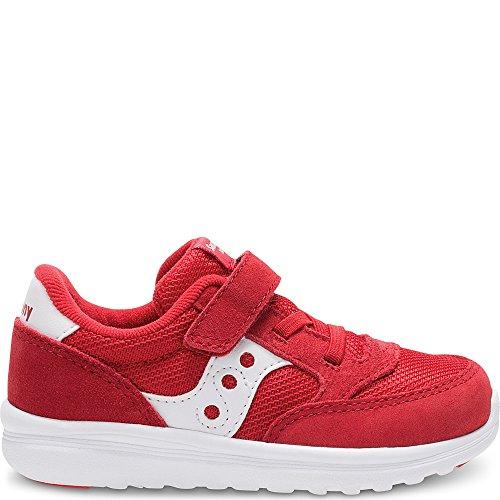 Saucony Unisex Baby Jazz Lite Sneaker, Red, 12 Medium US Little Kid