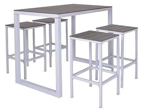 Tavolo Bar Bianco.Enrico Coveri Set Tavolo Bar Grande Rettangolare Con 4
