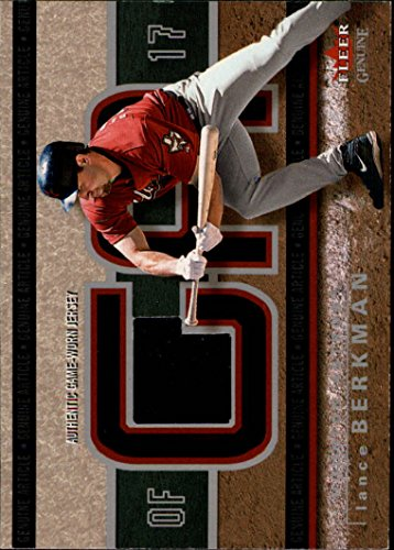 2003 Fleer Genuine Article Insider Game Jersey #LB Lance Berkman Jersey - NM-MT