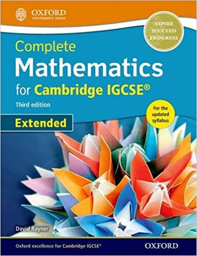 complete mathematics for cambridge igcse student book extended