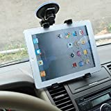 Tablet Car Mount Cradle, UCMDA 360 Degrees Rotation Adjustable Windshield Tablet Stand Holder for iPad Pro 10.5 / iPad 9.7 / Mini 1 2 3 4, Galaxy Tab 3 / 4, Use with All 7 - 10 inch Tablets - Black
