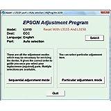 Adjustment Program / Resetter L3110 L3150 L3115: Amazon in: Software