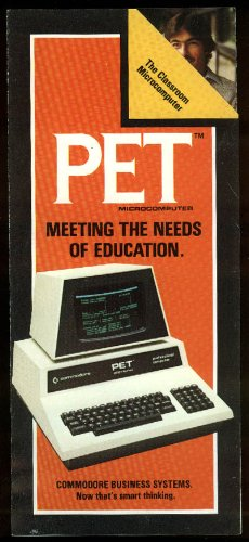 Commodore PET Classroom Microcomputer sales folder 1980 from The Jumping Frog