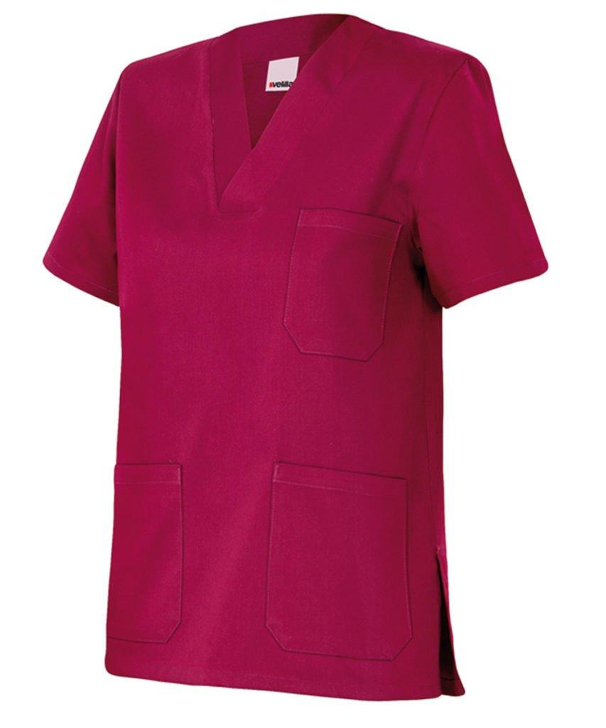 Velilla 589//C26//T2 Camisola Pijama de Manga Corta con Escote en Pico 2 Morado