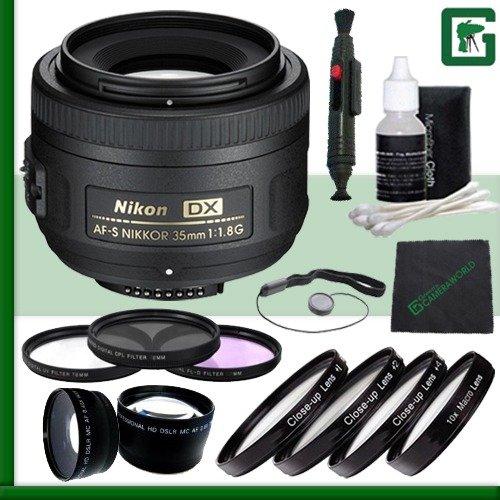 Nikon 35mm f/1.8G AF-S DX Lens for Nikon Digital SLR Cameras Green's Camera Bundle 5 by Nikon