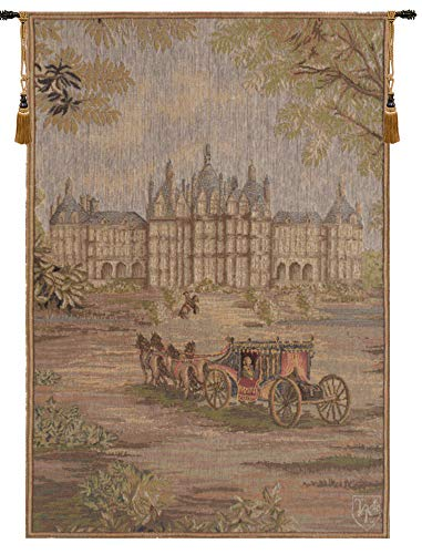 Verdure Chateau Carriage,French Tapestry,-Small: 19.00