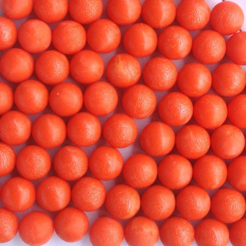 50 New .68 Cal Reusable Rubber Training Balls Paintballs Orange Color by GFSP Outdoor Sports