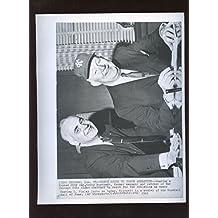 Original Jan. 29th 1965 Charles O Finley & Gabby Hartnett Wire Photo