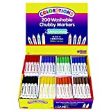 Colorations Washable Chubby Markers - Set of 200 (Item # CHBST)