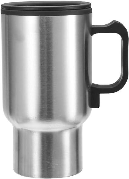 Gallocabe - Vaso de viaje para coche (12 V) Botella termo de acero ...