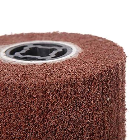 Maslin Deburring Abrasive Nylon Drawing Round Brush Polishing Grinding Buffing Wheel Grit: 600