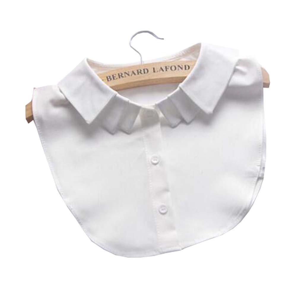 Black Temptation Cuello Falso del Cuello Falso de Las Camisas de la Blusa del Cuello Falso de la Camisa para Las Mujeres, A